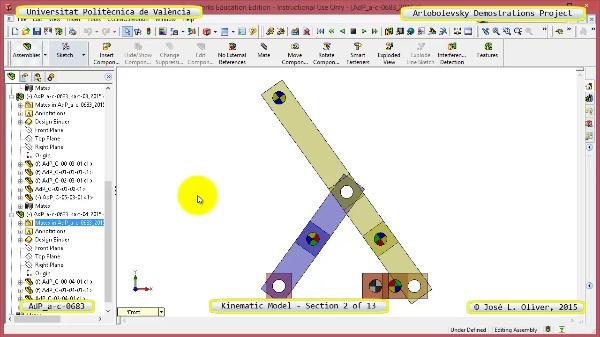 Simulación Mecanismo a-c-0683 con Cosmos Motion - 02 de 13