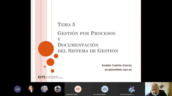 Técnicas Afines. Tema 5. Procesos
