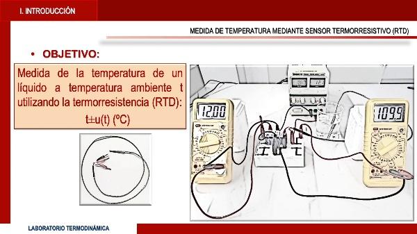 Medida de la temperatura mediante un sensor termorresistivo (RTD)