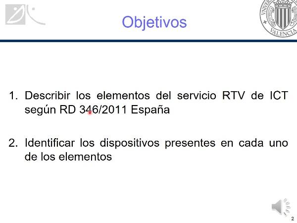 Elementos del servicio de  radiodifusión sonora y televisión (RTV)