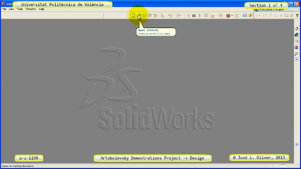 Creación Virtual Mecanismo a_z_1196 con Solidworks - 1 de 4