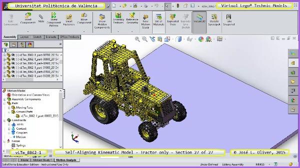 Simulación Dinámica Lego Technic 8862-1 - Tractor - sobre Base - 27 de 27