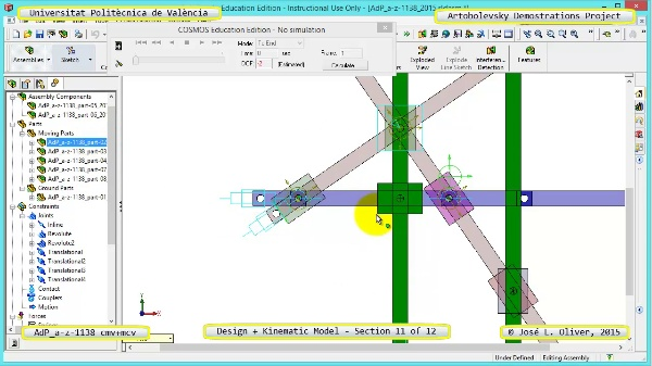 Creación Virtual y Simulación Mecanismo a-z-1138 con Cosmos Motion - 11 de 12