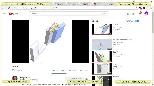 Simulación Cinemática Tang_Door3Inv-v8r5 con Recurdyn - AdP-4