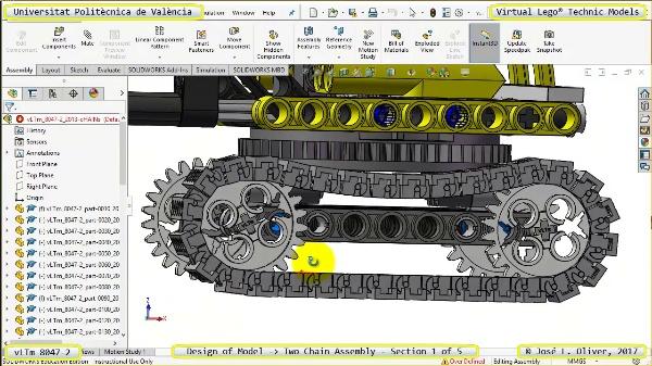 Creación Virtual Lego Technic 8047-2 ¿ Montaje de Cadenas ¿ 1 de 5