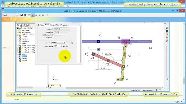 Simulación Mecanismo a-4-1553  con Mechanica - 22 de 25 - Modelo Mechanica