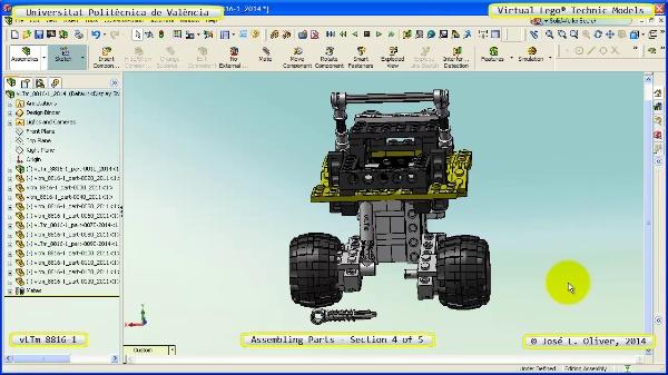 Montaje Modelo Lego Technic 8816-1 con Solidworks ¿ 4 de 5