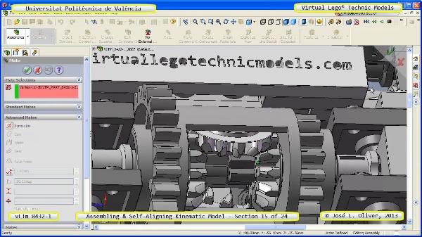 Simulación Cinemática Lego Technic 8432-1 con Cosmos Motion ¿ 15 de 24 - no audio