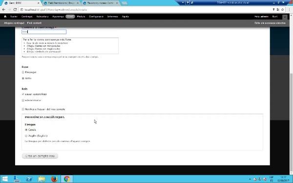 Gestió de permisos en Drupal 7