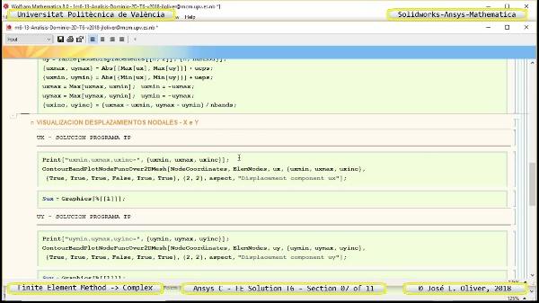 Solución Elementos Finitos Dominio-Plano en Ansys-Classic y Mathematica -T6- v2018 - 07 de 11