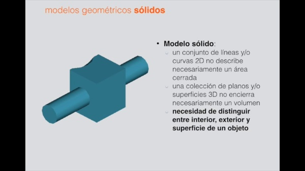 Solid Models - Fundamentals and Basic Techniques (Spanish video, English subtitles)