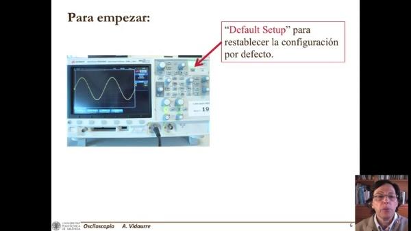 Manejo del osciloscopio Keysight