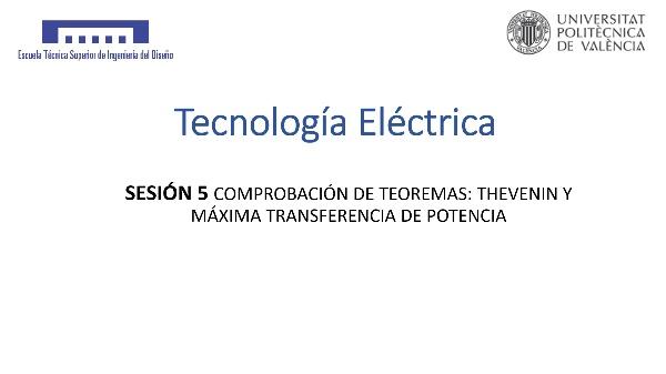 Sesión 5: Teorema de máxima transferencia