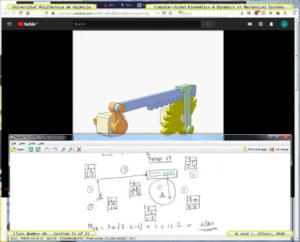 Mecánica y Teoría de Mecanismos ¿ 2020 ¿ MM - Clase 06 ¿ Tramo 11 de 11