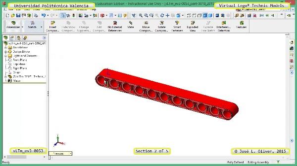 Creación Virtual Modelo Lego Technic - Isogawa ¿ ev3-0053 ¿ 2 de 5