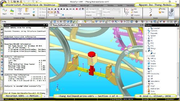 Simulación Cinemática Tang_RailHandCarInv-v8r5 con Recurdyn - RailTa - 3 de 4