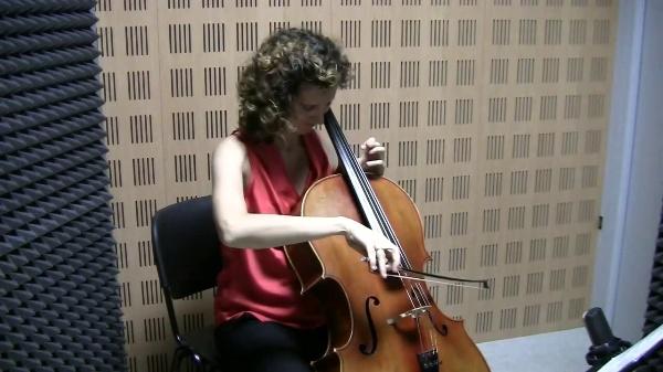 Variaciones sobre el tema Sacher para violonchelo solo, C. Halffter / Mayte García Atienza, violonchelo