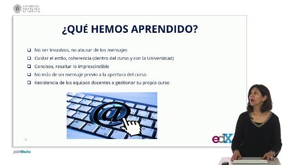 SPOC Gestión de MOOC. Universidad Carlos III de Madrid. Conclusiones estrategia mensajería electrónica UC3M (3)