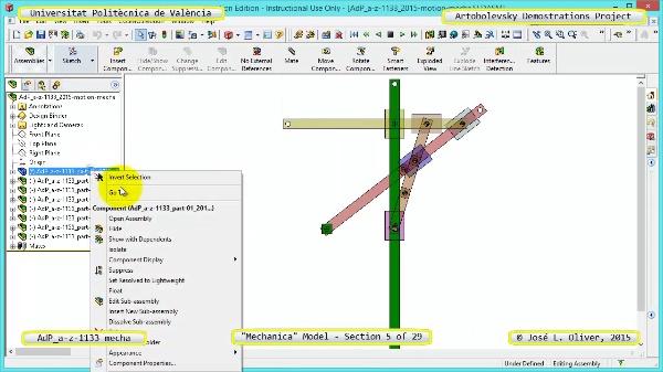 Simulación Mecanismo a-z-1133 con Mechanica - 05 de 29