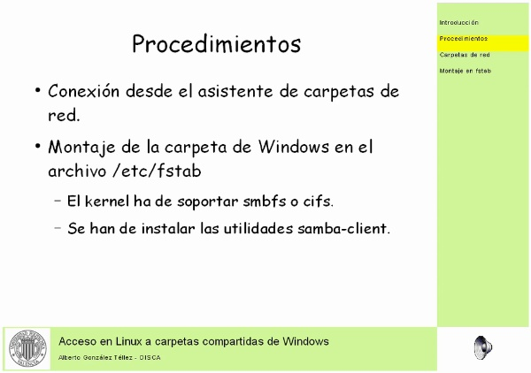 Acceso en Linux a carpetas compartidas de Windows