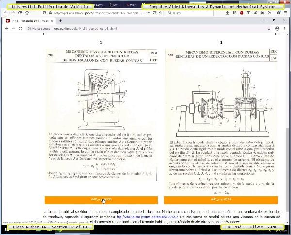 Mecánica y Teoría de Mecanismos ¿ 2020 ¿ MM - Clase 14 ¿ Tramo 07 de 10
