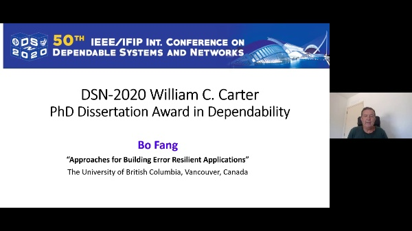 DSN2020 - Awards and Recognitions - William C. Carter Award