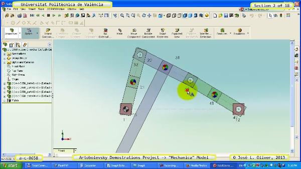 Simulación Mecanismo a_c_0658 con Mechanica - 02 de 18