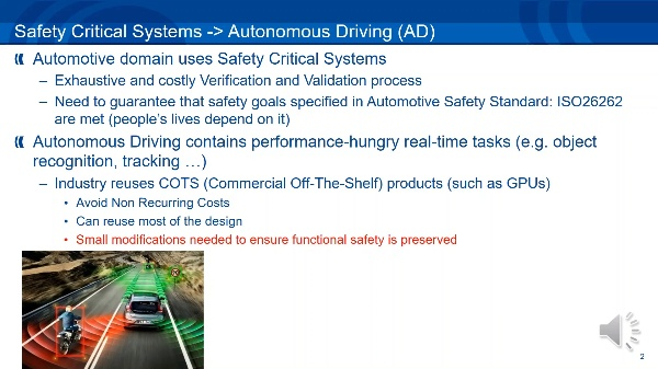 Software-only Triple Diverse Redundancy on GPUs for Autonomous Driving Platforms