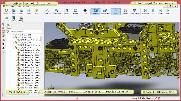 Creación Virtual Modelo Lego Technic 8862-1 ¿ Pieza 1 ¿ 18 de 44