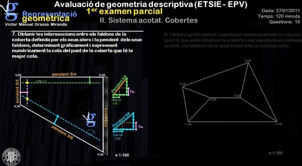 II. Avaluació de geometria descriptiva - evaluación de geometría descriptiva (ETSIE) Víctor Grassa