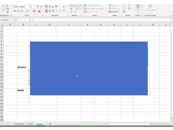 Acustica. Practica medida de ruido. Calculo nivel de ruido con Excel.
