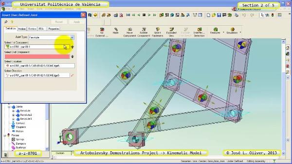 Simulación Mecanismo a_z_0701 con Cosmos Motion - 2 de 5