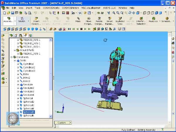 Montaje de robot ABB con MSC Visual Nastran Desktop -Tramo 06 de 07