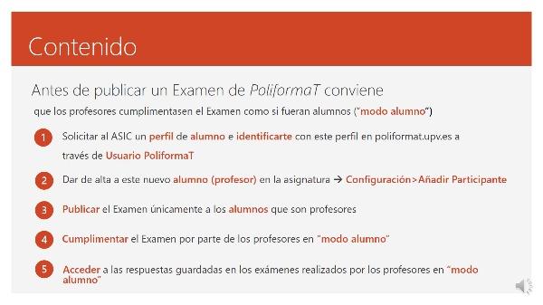 PROVISIONAL4. Antes de publicar un Examen de PoliformaT