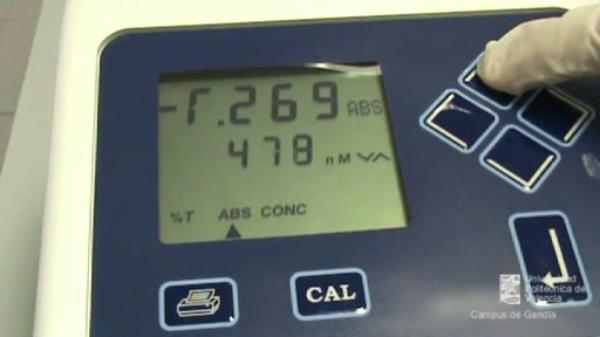 Determinación de nitritos en agua: medida de la absorbancia