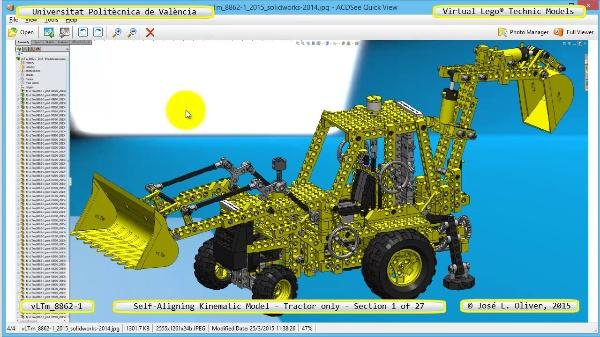 Simulación Dinámica Lego Technic 8862-1 - Tractor - sobre Base - 01 de 27