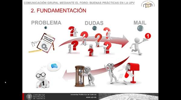 COMUNICACIÓN GRUPAL MEDIANTE EL FORO: BUENAS PRÁCTICAS EN LA UPV