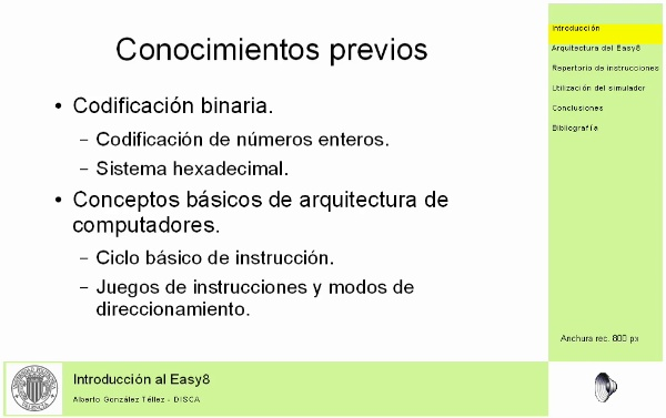 Introducción al Easy 8
