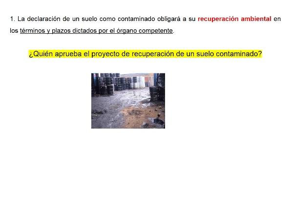 La descontaminación de suelos según el real Decreto 9/2005