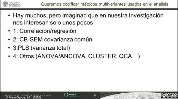Codificación en revisiones sistemáticas: como identificar el modelo multivariante usado en los análisis