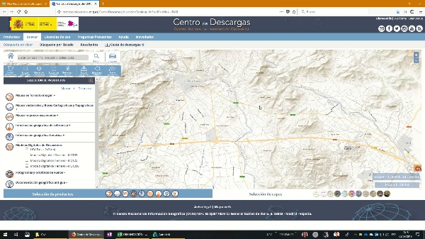 Descarga de datos desde la web del PNOA