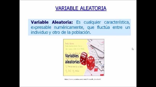 Clasificación de las variables aleatorias
