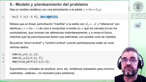Controlabilidad entrada/salida (estático) 2x3, caso estudio: [1] enfoque SVD error cero