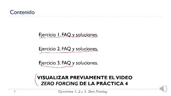 Práctica 4 Comunicaciones Digitales. Ejercicio 1, 2 y 3. Zero forcing