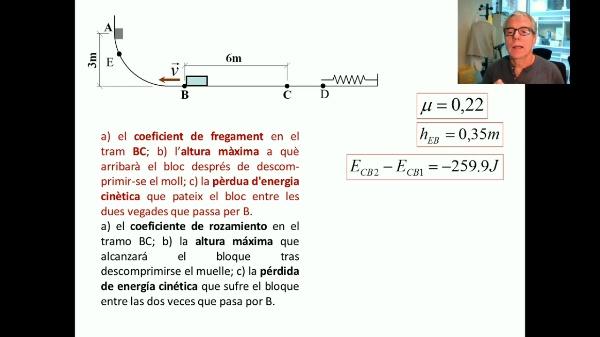 Dinàmica. Energia. Exemple 4 V