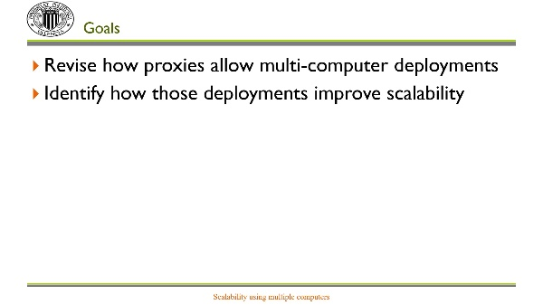 Scalability using multiple computers