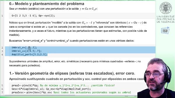 Controlabilidad entrada/salida (estático) 2x3, caso estudio: [3] enfoque SVD error no nulo