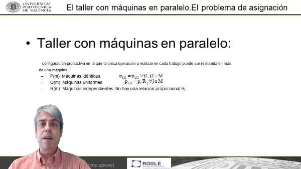 Los problemas de máquinas en paralelo en Teoría de Secuenciación