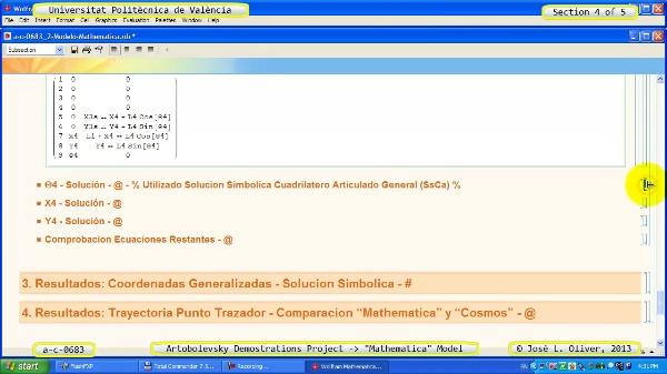 Solución Cinemática Simbólica a_c_0683 con Mathematica -A- 4 de 5