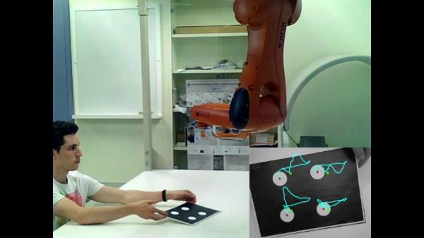 Control visual basado en imagen (IBVS) de un brazo robótico con configuración eye-in-hand